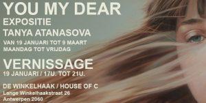 Exposition Tanya Atanasova January 19, 2018 17h - 21h in De Winkelhaak, Antwerpen